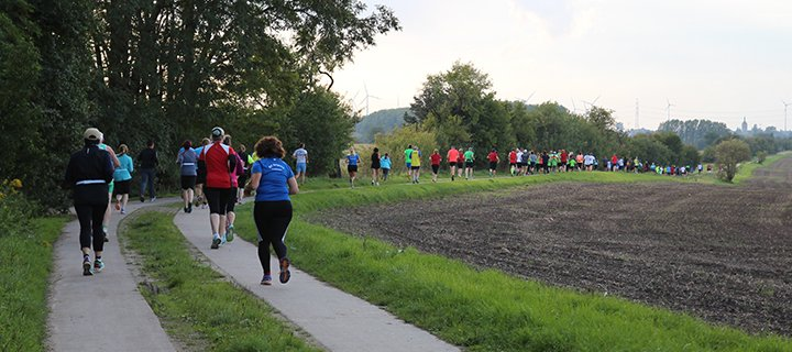 Die Läufer des PflaKuMa-Lauf in Aktion